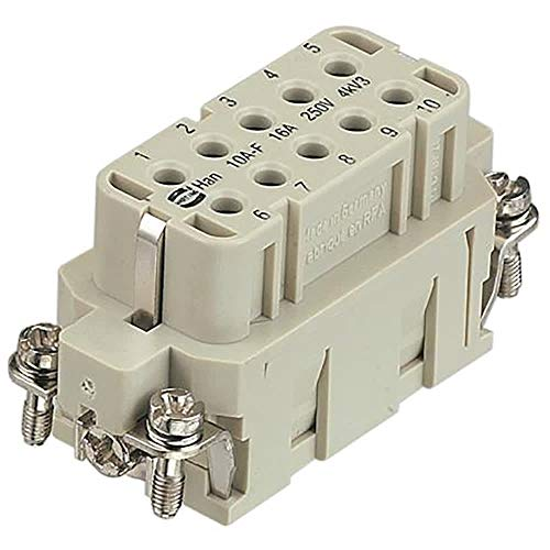 Han A 92000 Series Connector Insert; Female; 10 Way; 16A; 250 V, Pack of 2