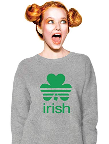 Sweatshirt Shamrock - TeeStars - St. Patrick's Day Shamrock Clover - Irish Women Sweatshirt Medium Gray