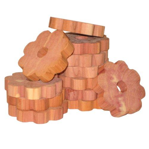 (Household Essentials 14376-1 CedarFresh Red Cedar Wood Flower Rings for Hangers - Set of)