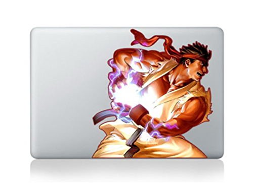 Ryu Street Fighter Arcade Classic Legend Cartoon Character Decal Sticker for Macbook Laptop Air Pro Retina 13 14 15 Inch Cool