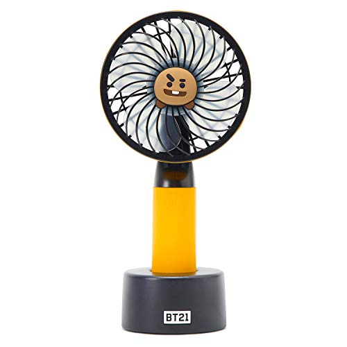 BT21 Official Merchandise by Line Friends – SHOOKY Character Mini Handheld Personal Portable Fan