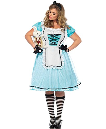 Tea Time Alice Plus Size Adult Costume - Plus Size 1X/2X (Tea Time Alice In Wonderland Costume)