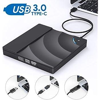 Amazon.com: Unidad de CD y DVD externa, AUCEE USB 3.0 tipo C ...