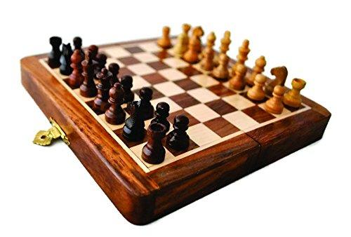 Lista de juguetes de vacaciones - Craftstore14 Magnetic juego de ajedrez de 7 pulgadas de juego con madera fina clásico...