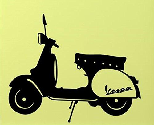BaBaSM Creativo Adesivi murali moto moderna e semplice apposto adesivo per Art Sticker Decor (nero)