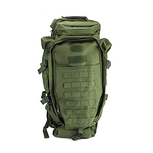 - Military Tactical Backpack Rifle Gun Storage Holder Military Survival Trekking Hiking Fishing Rod Bag with Belt Olive