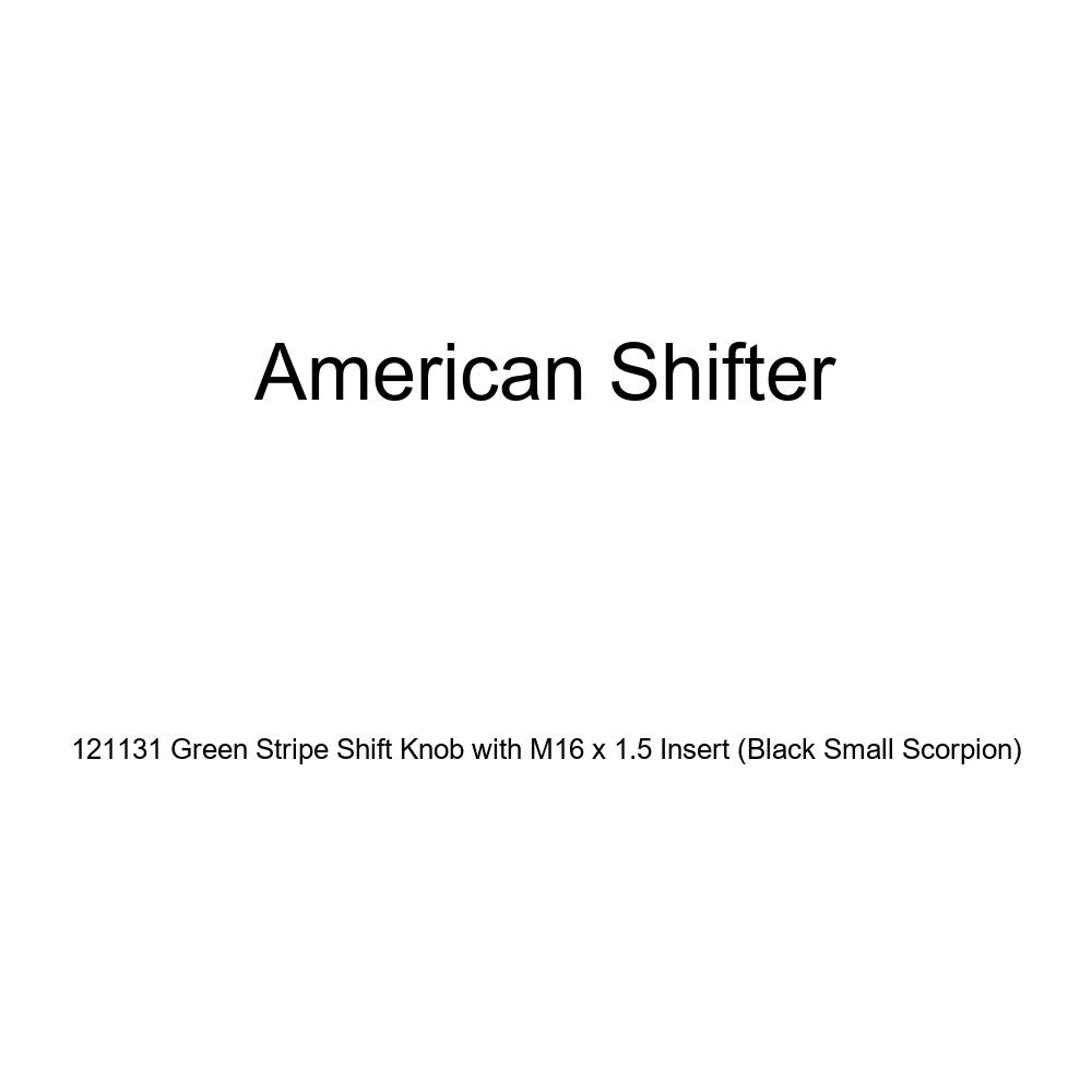 American Shifter 121131 Green Stripe Shift Knob with M16 x 1.5 Insert Black Small Scorpion