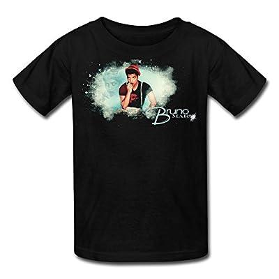 A-UFO Awesome Singer Bruno Mars Black YOUTH Short Sleeve