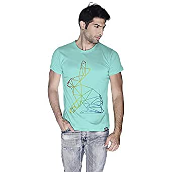 Creo Bunny Animal T-Shirt For Men - S, Green