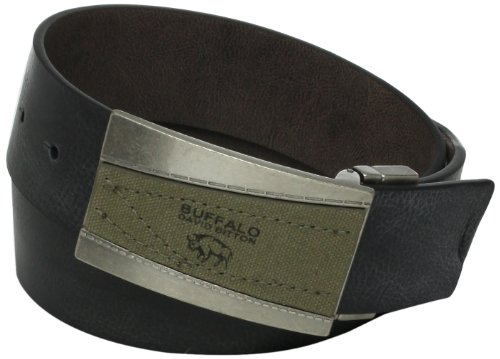 Buffalo by David Bitton Men's Logo Canvas Inlay Belt