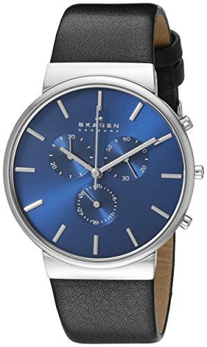 Skagen Men's SKW6105 Ancher Black Leather Watch