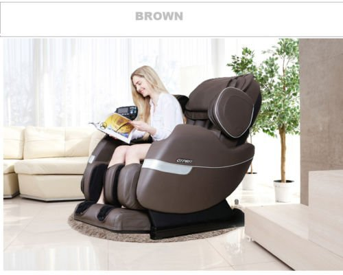 R Rothania Ospirit New Electric Full Body Shiatsu Massage Chair Recliner Straight I Track 3yr Warranty (Brown)
