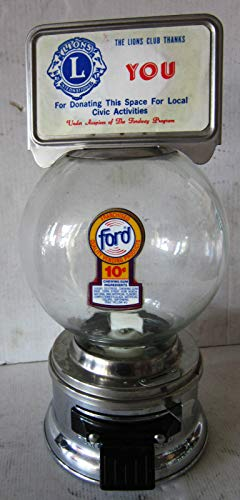 Original Ford 10 cent Dime Round Gumball Machine