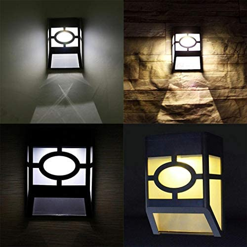 liwei18 Solar Powered Wall Mount LED Light Outdoor Solar Wall Light Wall Lamps Sconces