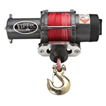 Viper Elite 5000lb ATV Winch & Custom Mount for Honda Rancher 420 4x4 with RED AmSteel®-Blue synthetic rope
