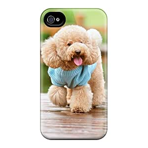 Premium Protection Cute Puppy Case Cover For Iphone 4/4s- Retail Packaging