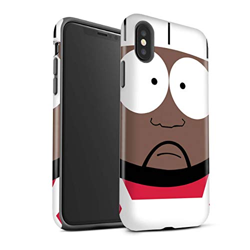 STUFF4 Matte Tough Shock Proof Phone Case for Apple iPhone Xs Max/Chef Design/Funny South Park Inspired Collection (South Park The Stick Of Truth Chef)