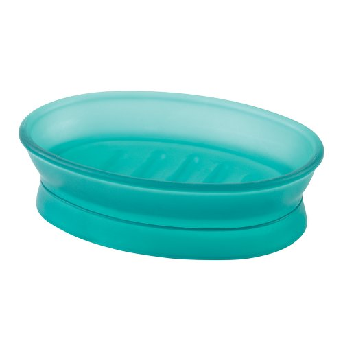 Spectrum Teal Green (InterDesign Franklin Soap Dish, Blue Frosted)