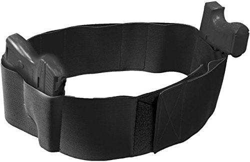 Elite Survival Systems ELSCDH-B-L Core-Defender Belly Band Holster, Black, Large