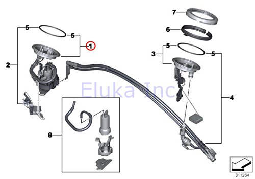 BMW Genuine Fuel Pump Assembly With Seal - In-Tank Suction Device 745i 750i 745Li ()