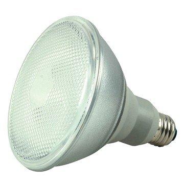 (Case of 6) Satco S7202 23-Watt Medium Base PAR38, 4100K, 120V, Equivalent to 75-Watt Incandescent Lamp with U.L. Wet Location Listed