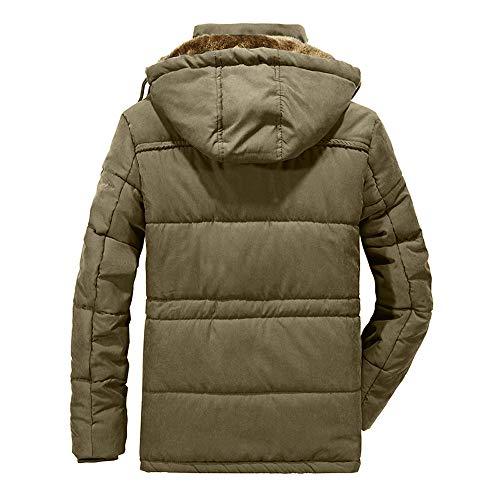 Amazon.com: Allywit Mens M-8XL Coat Warm Down Jacket Fleece Thick Winter Hooded Coat Outwear Parka: Clothing