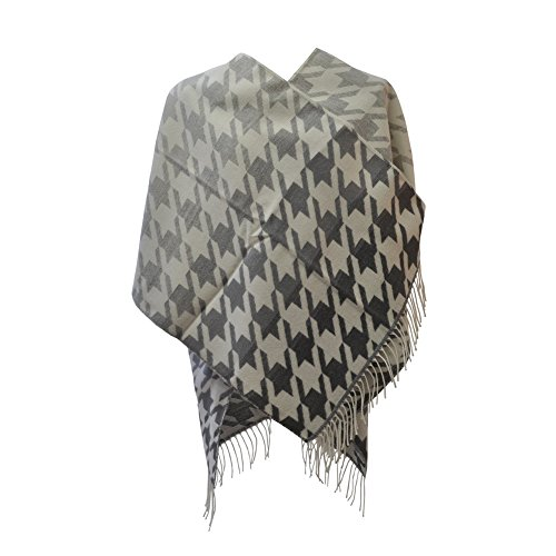 Grande France Carrie Poncho In Made Gris Donna Toutacoo Frange Con dR7xqB