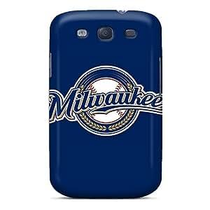 Galaxy S3 Baseball Milwaukee Brewers 2 Print High Quality Tpu Gel Frame Case Cover