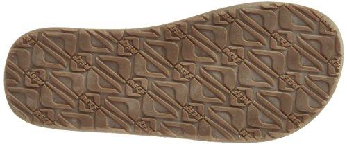 Reef REEF MARBEA R2390BZB - Chanclas de cuero para hombre, color marrón, talla Fällt aus Normal Marrón (DARKBROWN)