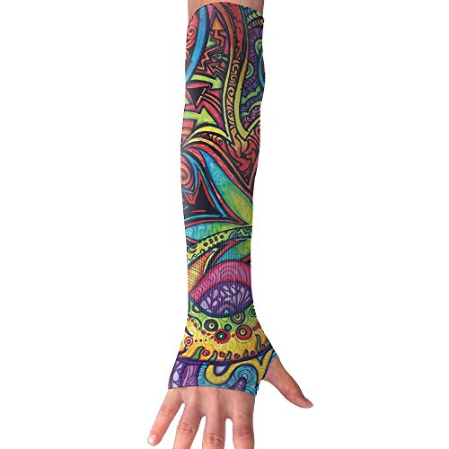 Trippy Psychedelic Plant Arm Sleeves UV Protection For Men Women Youth Arm Warmers For Cycling Golf Baseball - Ladies Arm Cycling Warmers