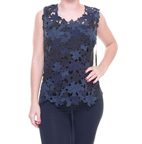 Elie Tahari Women's Sleeveless Floral Lace Scoop Neck Top Size S ()