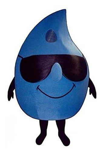 Blue water drop Walking Mascot Costume Cartoon Characte Christmas Halloween ( Size : Large(180-190)cm ()