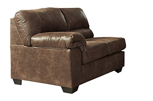 - Ashley Furniture Signature Design - Bladen Contemporary Left Arm Facing Loveseat - Sectional Component ONLY - Coffee