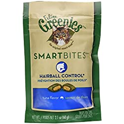 FELINE GREENIES SMARTBITES Hairball Control Treats for Cats Tuna Flavor 2.1 oz.