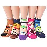 EVEI Animation Character Cartoon Series Collection Women's Original Socks (D08_5 pairs)