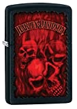 Harley-Davidson Black Matte Zippo Outdoor Indoor Windproof Lighter Free Custom Personalized Engraved Message Permanent Lifetime Engraving on Backside