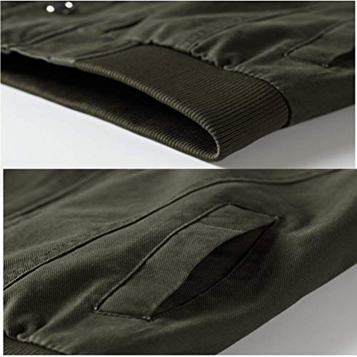 De Hombres del Bomber Chaquetas Ntel De Chaquetas Los Hombre Cómodo De Otoño Peso Soporte Collar Ligero Khaki De Battercake para Los Ocio Hombres Exterior Outwear Algodón T5xzSnqOw