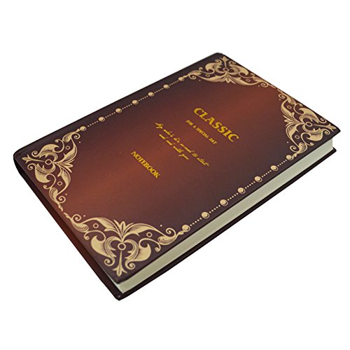 - Mily A5 European Carving Pattern Classic Vintage European Journal Diary Notebook Travel Book for Men Women (Brown)