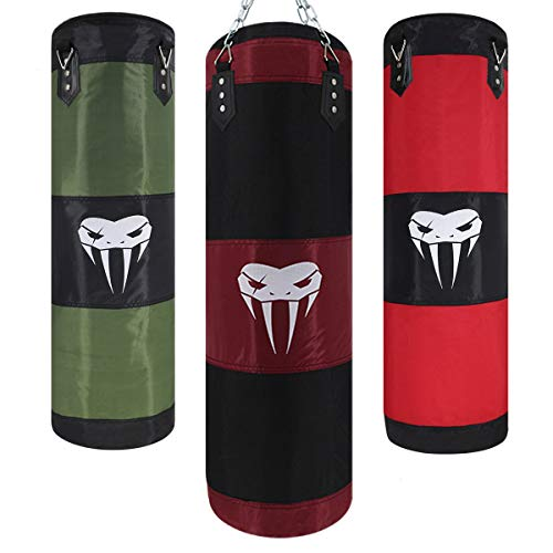 SOTF Heavy Bag Boxing Set Punching Bags for Adults Heavy Duty Hanging Punching Bag Unfilled