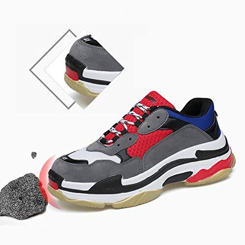 Respirable Rojo Mujer Zapatillas DRENECO de Zapatos Running Sneakers Deportivas Yxvq8a