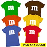 M Chocolate Candy Costume Outfit Funny Group Halloween Set Womens Shirt XX-Large Red