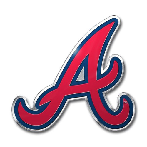 MLB Atlanta Braves Die Cut Color Automobile Emblem (Mlb Atlanta Braves Home Accessories)