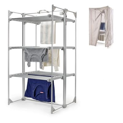 Dry:Soon Deluxe 3-Tier Heated Airer & Cover Pack (Under 6p/hour!) drysoon