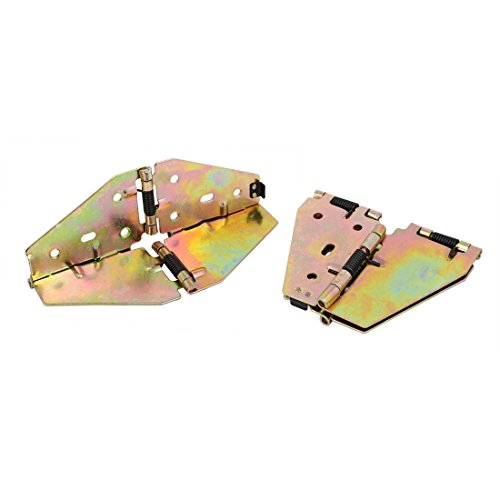 uxcell Table Butterfly Shape Spring Loaded Folding Leaf Hinge Support Brass Tone 2pcs by uxcell
