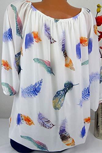Couvercles Taille Chemise Les Grande Floraux De Femmes l'hiver Manche White2 8xBF6