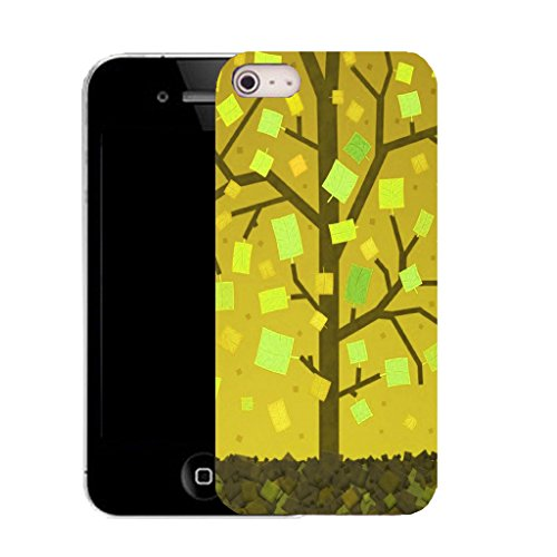 Mobile Case Mate iPhone 5c clip on Silicone Coque couverture case cover Pare-chocs + STYLET - contemporary tree pattern (SILICON)