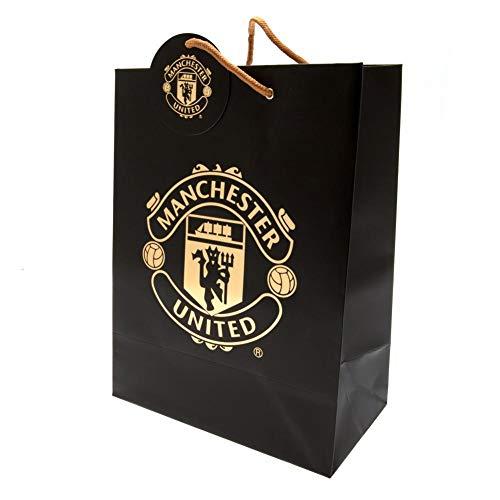 Manchester United FC Gift Bag (One Size) (Black/Gold)