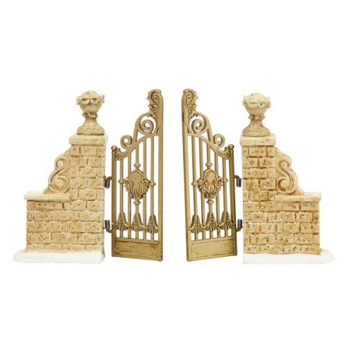 Department 56 Accessories for Villages Tudor Gardens Gate Accessory, 0.98 inch (Gate Manor Gate Manor)