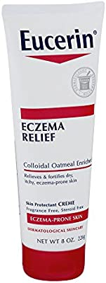 Eucerin Creme Eczema Relief 8 Ounce Tube (236ml) (2 Pack)