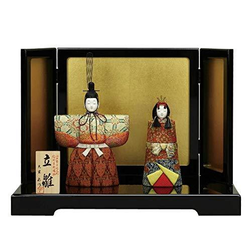 雛人形 大里彩 木目込 立雛 親王飾り 平飾り 幅43cm [fz-304] ひな人形   B07K7ZDZ46